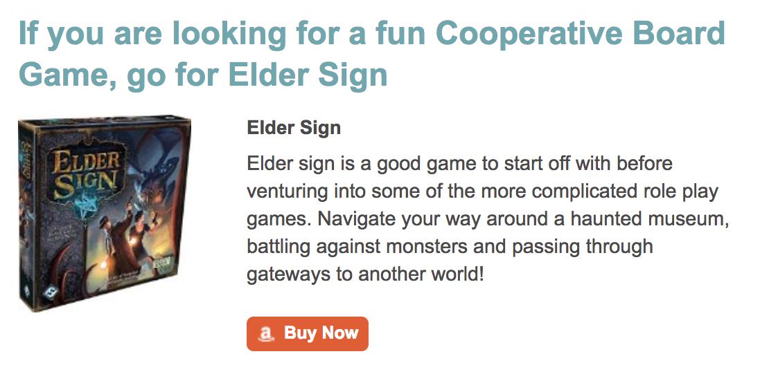 Top Co-Operative Board Game Elder Sign