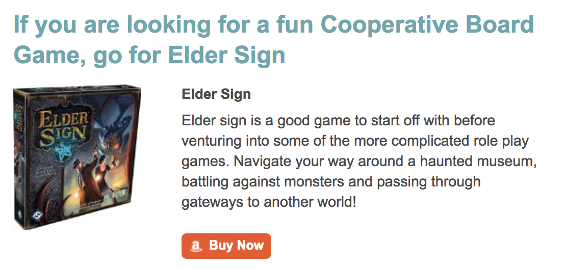 Top Co-Operative Board Game Elder Sign