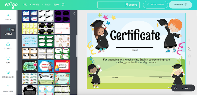 Edigo Certificate Design